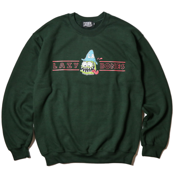 LZBN / LB HAT CREWNECK SWEAT (FOREST GREEN)