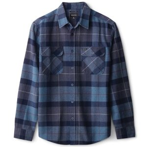 BRIXTON / BOWERY L/S FLANNEL SHIRT (NAVY/CAROLINA BLUE)