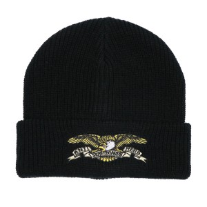 ANTI HERO /  EAGLE EMB CUFF BEANIE (BLACK)