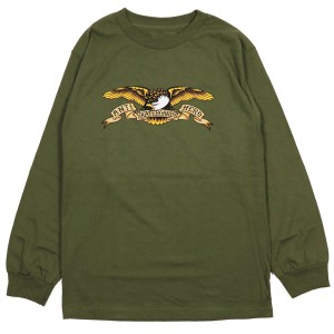 ANTIHERO / EAGLE L/S TEE (MILITARY GREEN)