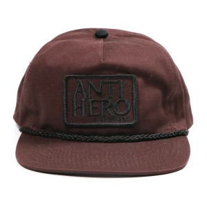 ANTIHERO /  RESERVE PATCH SNAPBACK CAP (DARK BROWN/BLACK)