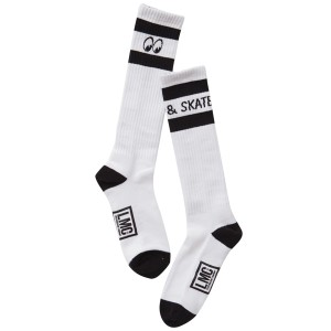 LOSER MACHINE / LMC X MOONEYES TALL SOCK (WHITE/BLACK)