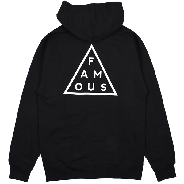 FAMOUS STARS AND STRAPS / BLACK MASS ZIP HOODIE (BLACK)