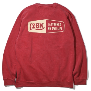 LZBN / HEXAGON GARMENT DYED CREWNECK SWEAT (CRIMSON)