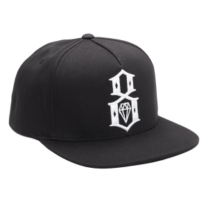 REBEL8 / STANDARD ISSUE LOGO SCRIPT SNAPBACK CAP (BLACK)