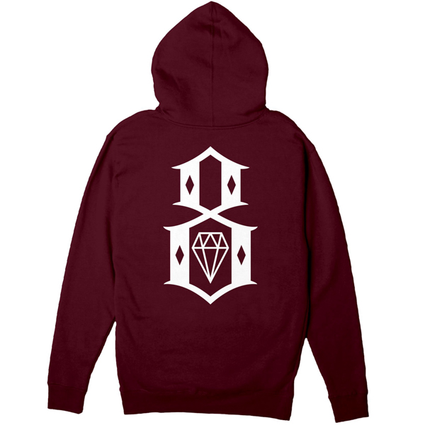 REBEL8 / STANDARD ISSUE LOGO ZIP HOODIE (MAROON)