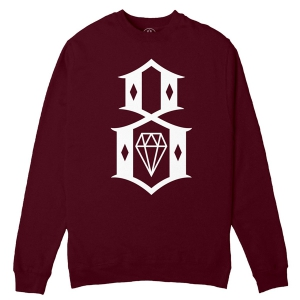 REBEL8 / STANDARD ISSUE LOGO CREWNECK SWEAT (MAROON)