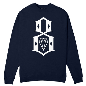 REBEL8 / STANDARD ISSUE LOGO CREWNECK SWEAT (NAVY)