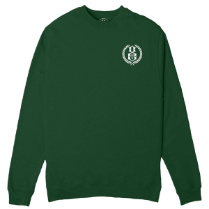 REBEL8 / LAURELS CREWNECK SWEAT (DARK GREEN)