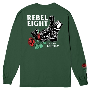 REBEL8 / EXERTION L/S POCKET TEE (DARK GREEN)