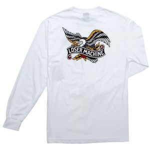 LOSER MACHINE / GLORY BOUND L/S TEE (WHITE)