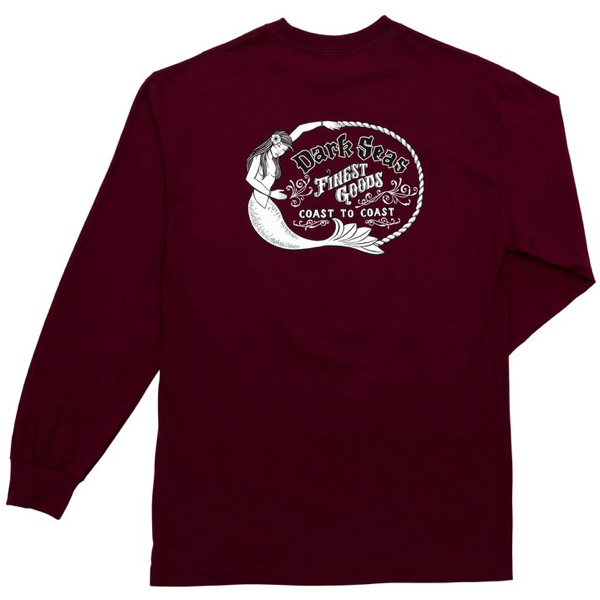 DARK SEAS / FAR EAST L/S TEE (BURGUNDY)