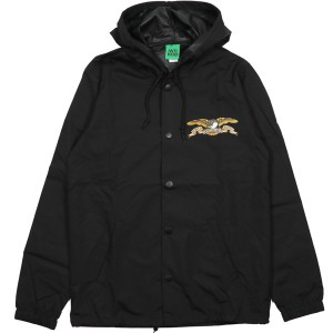 ANTIHERO / STOCK EAGLE HOODED COACHES JACKET (BLACK)