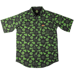 SANTA CRUZ X TMNT / COWABUNGA S/S BUTTON UP SHIRT (BLACK)