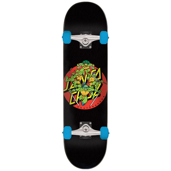 SANTA CRUZ X TMNT / TURTLE POWER SKATEBOARD COMPLETE 7.5