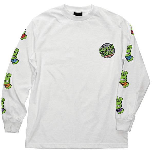 SANTA CRUZ X TMNT / SEWER DOT L/S TEE (WHITE)