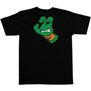 SANTA CRUZ X TMNT / TURTLE HAND TEE (BLACK/ORANGE)