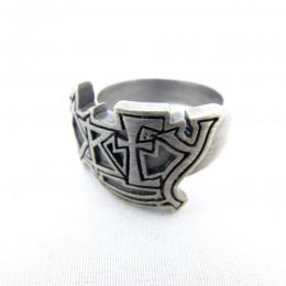 OBEY / DEATH RING (SILVER OXIDIZE)