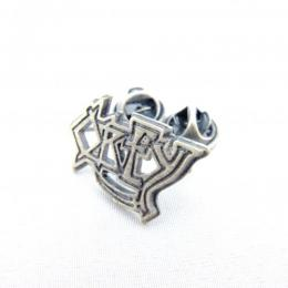 OBEY / DEATH PIN (SILVER OXIDIZE)