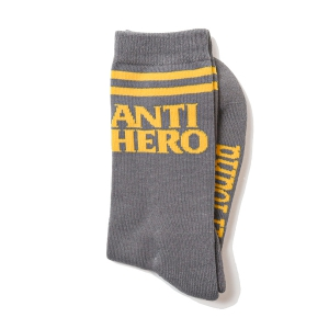 ANTIHERO / BLACKHERO IF FOUND SOCKS (GREY/YELLOW)