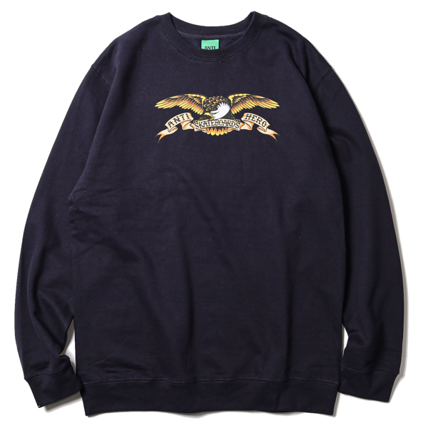 ANTIHERO / EAGLE CREWNECK SWEAT (NAVY)