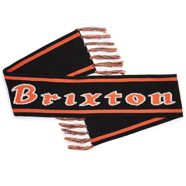 BRIXTON / PROXY SCARF (BLACK/ORANGE)