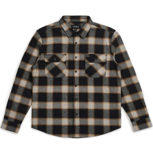 BRIXTON / BOWERY L/S FLANNEL SHIRT (BLACK/CREAM)