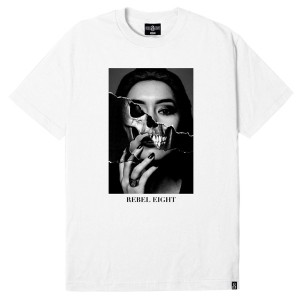 REBEL8 / DIPPED IN BLACK TEE (WHITE)