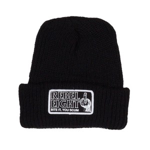 REBEL8 / BITE IT BEANIE (BLACK)