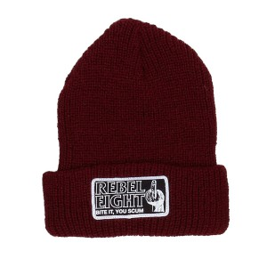 REBEL8 / BITE IT BEANIE (MAROON)