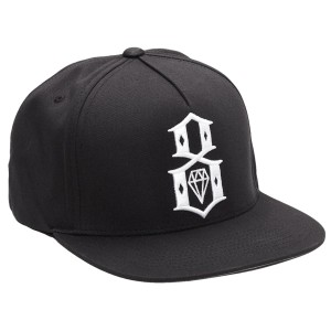 REBEL8 / LOGO SNAPBACK CAP (BLACK)