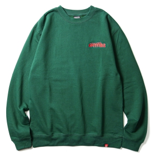 SPITFIRE / FLASH FIRE CREWNECK SWEAT (DARK GREEN)
