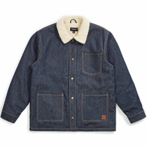 BRIXTON / YARD SHERPA DENIM JACKET (RAW INDIGO)