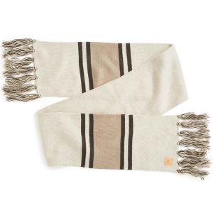 BRIXTON / MAIN LABEL SCARF (IVORY/TAUPE)