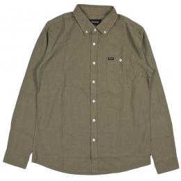 BRIXTON / CENTRAL L/S WOVEN (OLIVE)