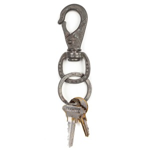 BRIXTON / SCROLL KEY CLIP (ANTIQUE NICKEL)