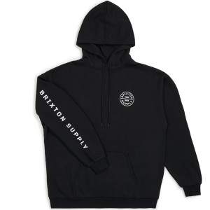 BRIXTON / OATH SV HOOD FLEECE (BLACK/WHITE)