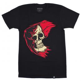 FAMOUS STARS AND STRAPS / REAPER BADGE  TEE (BLACK)