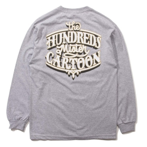 THE HUNDREDS X MISTER CARTOON / IMPALA L/S TEE (ATHLETIC HEATHER)