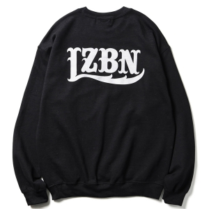 LZBN / LZBN BACK LOGO CREWNECK SWEAT (BLACK)