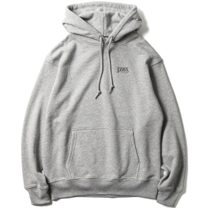 LZBN / LOGO EMB HEAVYWEIGHT PULLOVER HOODIE (HEATHER GREY)