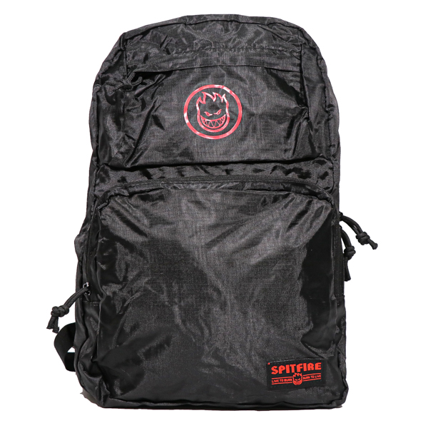 SPITFIRE / BIGHEAD CIRCLE PACKABLE BACKPACK (BLACK/RED)