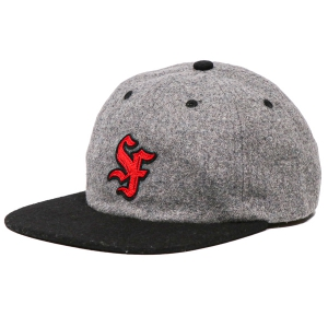 SPITFIRE / BIG LEAGUE STRAPBACK CAP (GREY/BLACK/RED)