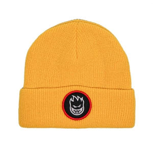 SPITFIRE / BIGHEAD CIRCLE PATCH CUFF BEANIE (YELLOW)
