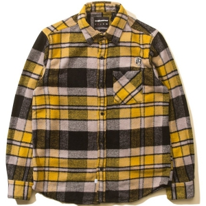 THE HUNDREDS / HUNTINGTON BUTTON-UP SHIRT (BLACK)
