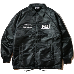 LZBN / LOGO PATCH BOA COACH JACKET (BLACK)