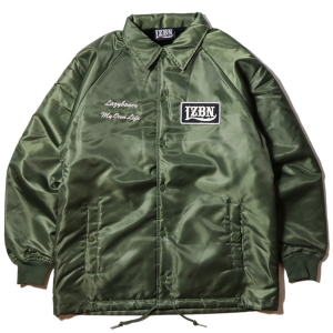 LZBN / LOGO PATCH BOA COACH JACKET (OLIVE)