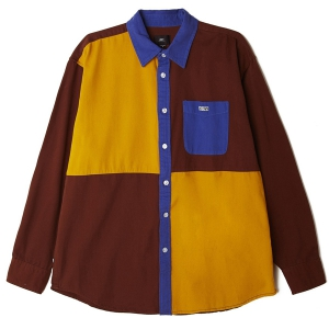 OBEY / LUGER WOVEN SHIRT (BROWN MULTI)