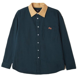 OBEY / CALEB WOVEN SHIRT (DEEP TEAL)