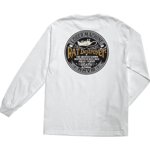 LOSER MACHINE / VERMIN STOCK L/S TEE (WHITE)